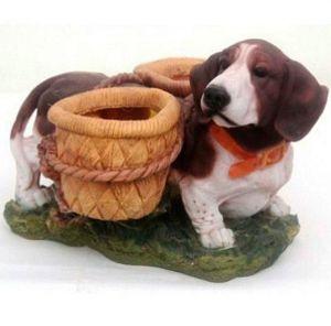 Фигурка декоративная Собака с горшками