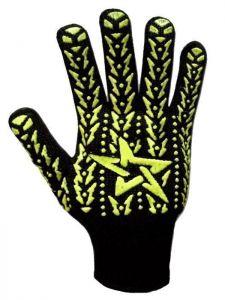Перчатки с пвх-рисунком, черные