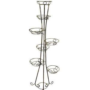 Кованая подставка Башня, 7 вазонов