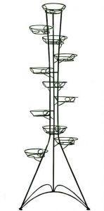Кованая подставка Башня (круглый профиль) на 11 вазонов