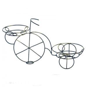 Кованая стойка Велосипед на 2 вазона