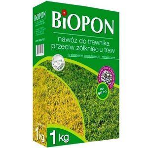 Удобрение Biopon для газона против пожелтения