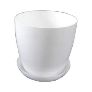 Горшок с поддоном Глянец-М белый, Ø14см, V1,4 л