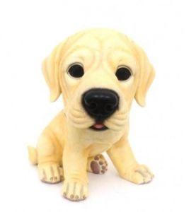 Фигурка декоративная щенок Лабрадор золотистый 16 см