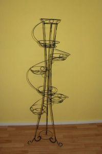 Кованая подставка Башня спираль на 7 вазонов