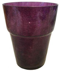 Горшок для орхидей, стекло, Ø13см (фиолетовый)