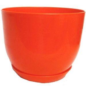 Горшок с подставкой Классик оранжевый