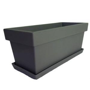 Горшок с подставкой Lofly (Лофли) балкон, 8 литров Серый