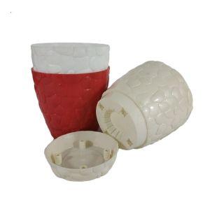 Горшок с подставкой Garden (Гарден) камни, 1,6 л Белый