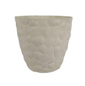 Горшок с подставкой Garden (Гарден) камни, 1,6 л Кремовый