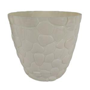Горшок с подставкой Garden (Гарден) камни, 3 л Кремовый