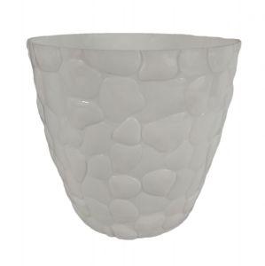 Горшок с подставкой Garden (Гарден) камни, 3 л Белый