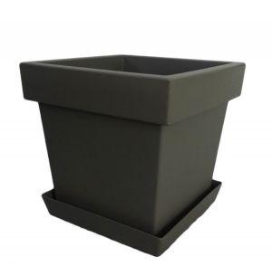Горшок с подставкой Lofly (Лофли) квадратный, 4,5 литра Серый