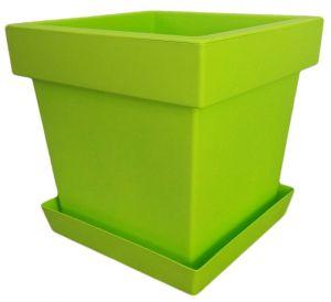 Горшок с подставкой Lofly (Лофли) квадратный, 8 литров Лайм