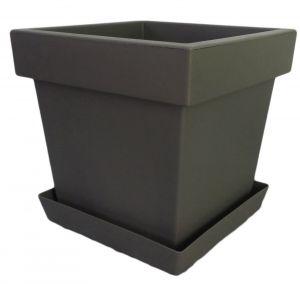 Горшок с подставкой Lofly (Лофли) квадратный, 8 литров Серый