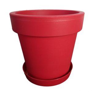 Горшок с подставкой Lofly (Лофли), 3,4 литра Малиновый