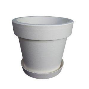 Горшок с подставкой Lofly (Лофли), 1 литр Белый