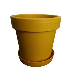 Горшок с подставкой Lofly (Лофли), 1 литр Горчичный