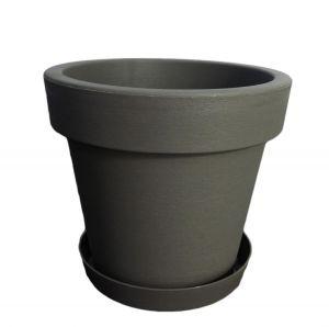 Горшок с подставкой Lofly (Лофли), 1 литр Серый