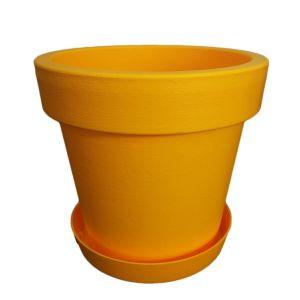 Горшок с подставкой Lofly (Лофли), 1 литр Темно-желтый