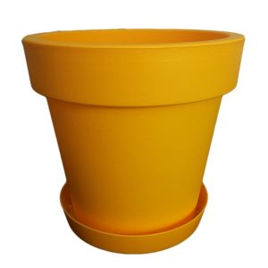 Горшок с подставкой Lofly (Лофли), 3,4 литра Темно-желтый