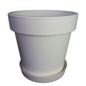 Горшок с подставкой Lofly (Лофли), 6,7 литров Белый