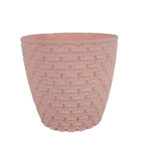 Горшок с подставкой Garden (Гарден) плетение, 0,75 л Розовый
