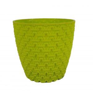 Горшок с подставкой Garden (Гарден) плетение, 0,75 л Салатовый