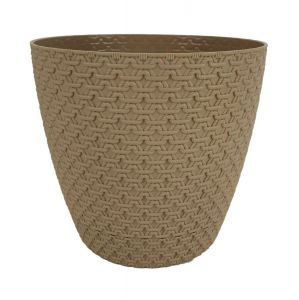 Горшок с подставкой Garden (Гарден) плетение, 4,3 л Мокко