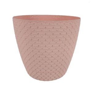 Горшок с подставкой Garden (Гарден) плетение, 4,3 л Розовый