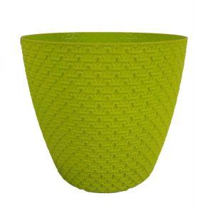 Горшок с подставкой Garden (Гарден) плетение, 4,3 л Салатовый