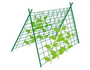Шпалерная сетка 1,7х5 м Зеленая Дім Сад Город плюс