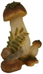Садовая статуэтка Гриб с улиткой