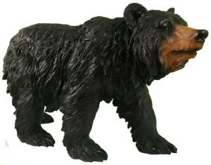 Фигурка декоративная Медведь черный