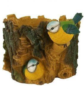 Кашпо Птички на пне