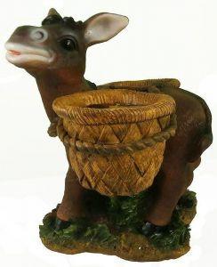 Фигурка декоративная Ослик с горшками