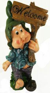 Фигурка декоративная Гном с табличкой, высота 61 см