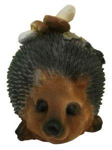 Садовая фигурка Ежик с грибами