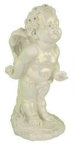 Садовая фигурка Ангел Мальчик, перламутровый