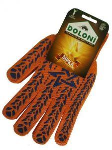 Перчатки с пвх-рисунком, оранжевые
