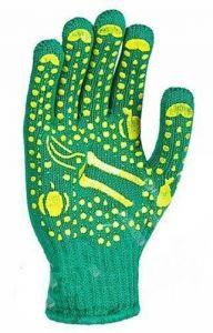 Перчатки с пвх-рисунком, зеленые
