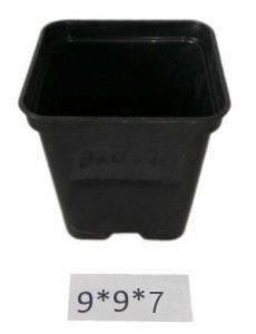 Горшок для рассады квадратный  Ø9см 0,4 л