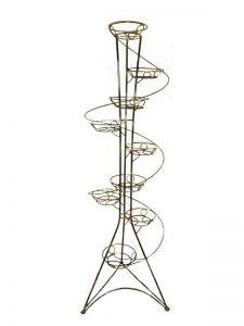 Кованая подставка Башня спираль на 9 вазонов