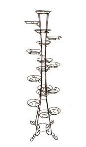 Кованая подставка Фиалка на 16 вазонов