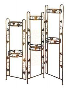 Кованая стойка Забор на 6 вазонов