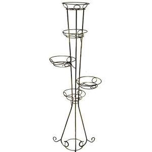Кованая подставка Башня (круглый профиль) на 5 вазонов