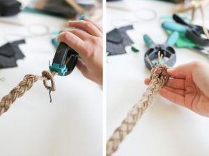 Веревка сизалевая 8 мм, 25 метров
