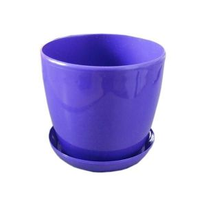 Горшок с поддоном Глянец-М фиолетовый, Ø11см, V0,8 л