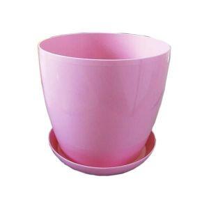Горшок с поддоном Глянец-М розовый, Ø11см, V0,8 л