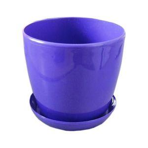Горшок с поддоном Глянец-М фиолетовый, Ø14см, V1,4 л